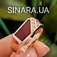 Стильная золотая печатка с коньячным перламутром - Мужское золотое кольцо, фото 2