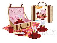Набор игровой посуды - пикник, 26*19,5*10 см, красный (CH22006)