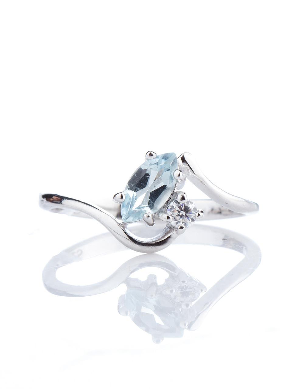 Кольцо серебряное с топазом