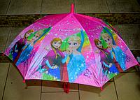 Зонт трость для девочки Холодное сердце расцветки в ассортименте, фото 1