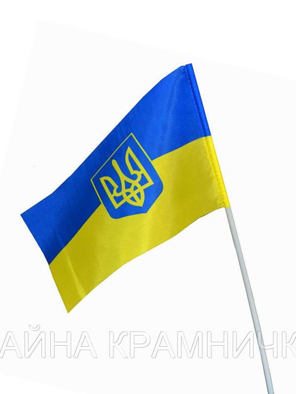 US6122 Прапорець України на паличці гербом