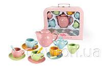 Набор игровой посуды - чайный, 17 шт, 33*27*10,2 см, разноцветный, фарфор (CH12066)