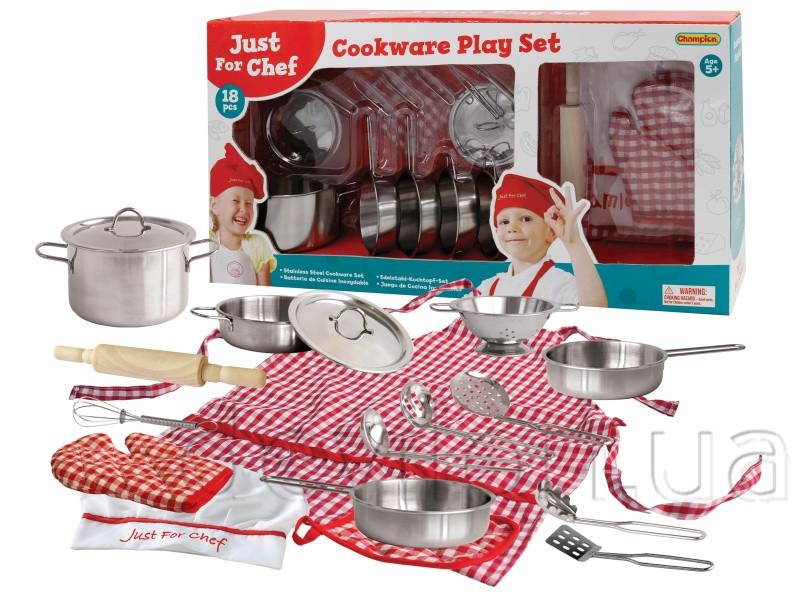 Набор игровой посуды - кухонный, 18 шт, 59*10,5*30 см, нержавеющая сталь (CH205114)