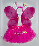 Карнавальный костюм БАБОЧКА, розовый  арт. HLJ170419-3