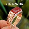 Мужская золотое кольцо с натуральным сердоликом