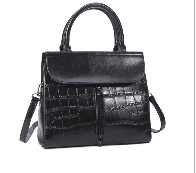 Повседневная классическая женская кожаная сумка