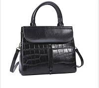 Повседневная классическая женская кожаная сумка, фото 1
