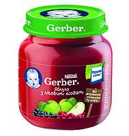 Пюре Gerber Яблоко с лесными ягодами 130г с 4мес