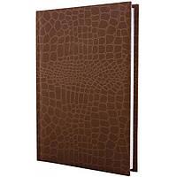 Ежедневник А6 Economix недатированный Croco коричневый E21728-07