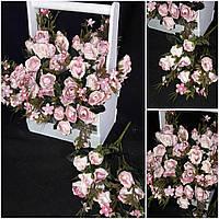Розы искусственные в букете, 5 веток, 30 см., 55/45 (цена за 1 шт. + 10 гр.)