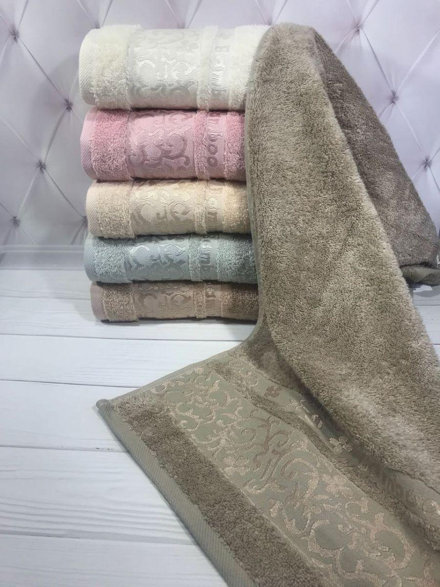 "Махровое полотенце ""Diamont"" 50*90 (100% бамбук) 6 шт./уп. Puppila, Турция"
