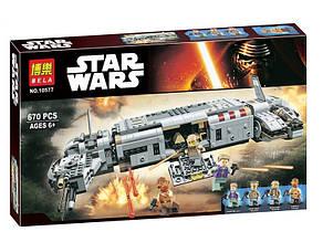"""Конструктор Bela 10577 Звездные войны """"Военный транспорт сопротивления"""" (аналог Lego 75140) 670 дет"""