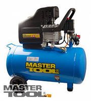 MasterTool Компрессор 50 л, 2,0 кВт, 220 л/мин. 8 атм, 2 выхода MasterTool КПП-50-1