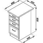 Кухонная секция Тюльпан Н 40-4Ш