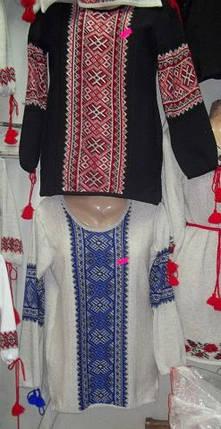 Блуза-вышиванка вязанная Синий, фото 2