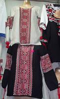 Блуза-вышиванка вязанная Черный