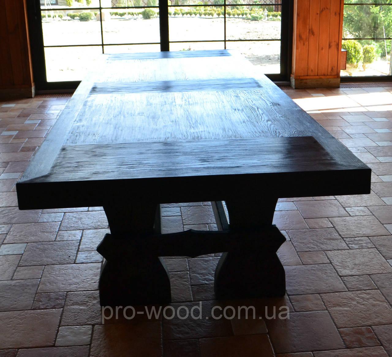 массивный стол под старину из натурального дерева