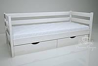 """Кровать одноярусная  """"Классик"""" White. Ясень."""