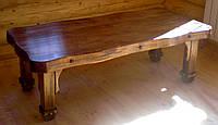 Стол под старину ( с декорированной волнообразной столешницей)
