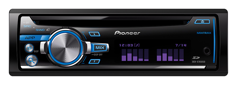 CD/MP3-автомагнитола Pioneer DEH-X7650SD