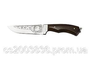 Нож охотничий ручной работы Парусник, кожаный чехол в комплекте
