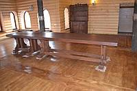 Стол банкетный, массивный под старину ( из натурального дерева)