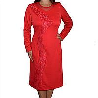 Красное платье Волна р. 50