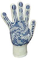 Перчатки ХБ с ПВХ нанесением, 7 класс