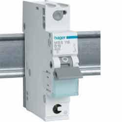 Автоматический выключатель 1р 16А  I=6kA Hager C, МС116А