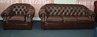 Диван и кресло Леон - натуральная кожа