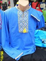 Вышиванка мужская недорого Голубой, фото 3