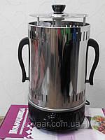 Электрошашлычница Помощница 8 шампуров с таймером ,запасная колба,кожух из нержавеющей стали
