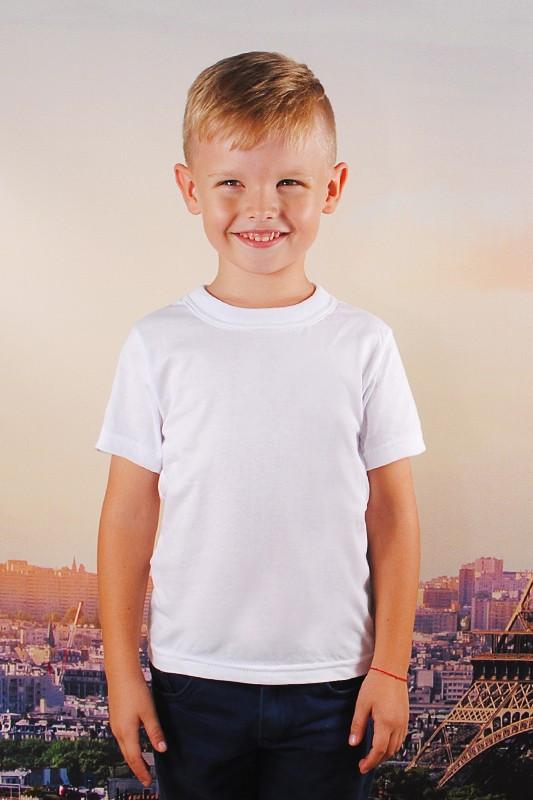 Белая детская футболка от 1 до 8 лет