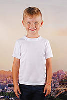 Белая детская футболка от 1 до 8 лет, фото 1