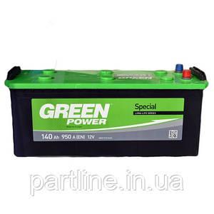 Аккумулятор Green Power 6СТ-140, пусковой ток 950En, 513х189х223, гарантия 24 мес., стандарт класс