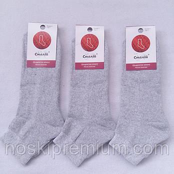 Носки женские махровый след х/б Смалий, 23-25 размер, светло-серые