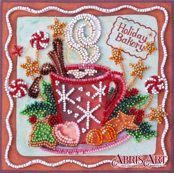 Набор-мини для вышивки бисером на натуральном художественном холсте Аромат праздника