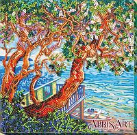 Набор-миди для вышивки бисером на натуральном художественном холсте Над морем