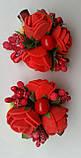 Заколка для волос с цветами красные розы, фото 2