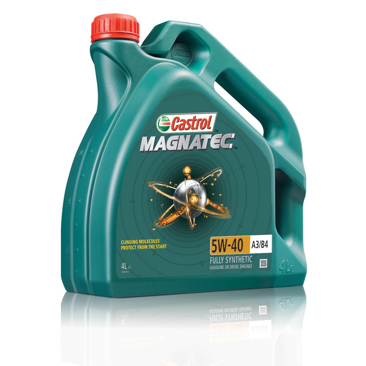 Синтетическое моторное масло Castrol magnatec 5w-40 A3/B4 4L