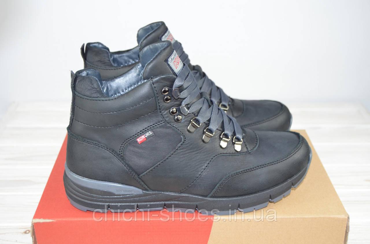 Ботинки мужские зимние Konors 1058-0604-1 чёрные нубук