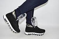 Ботинки женские зимние Eclipse 542-8 чёрные замша, фото 1