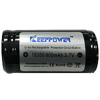Аккумулятор литиевый 18350 (CR123) Keepower   900mAh 3.7V  Li-ion(с электроникой)