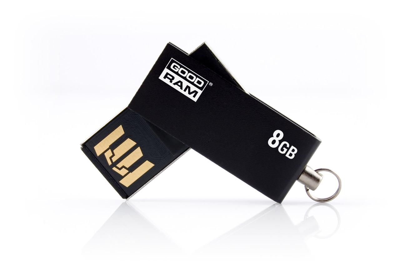 Флеш-накопитель USB  8GB GOODRAM UCU2 (Cube) Black (UCU2-0080K0R11)