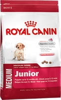 Корм для собак royal canin medium junior 15 кг.