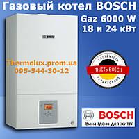 Газовый котел Bosch Gaz 6000 W WBN 6000-18C-24C-24H RN (турбо, настенный, официальный), фото 1