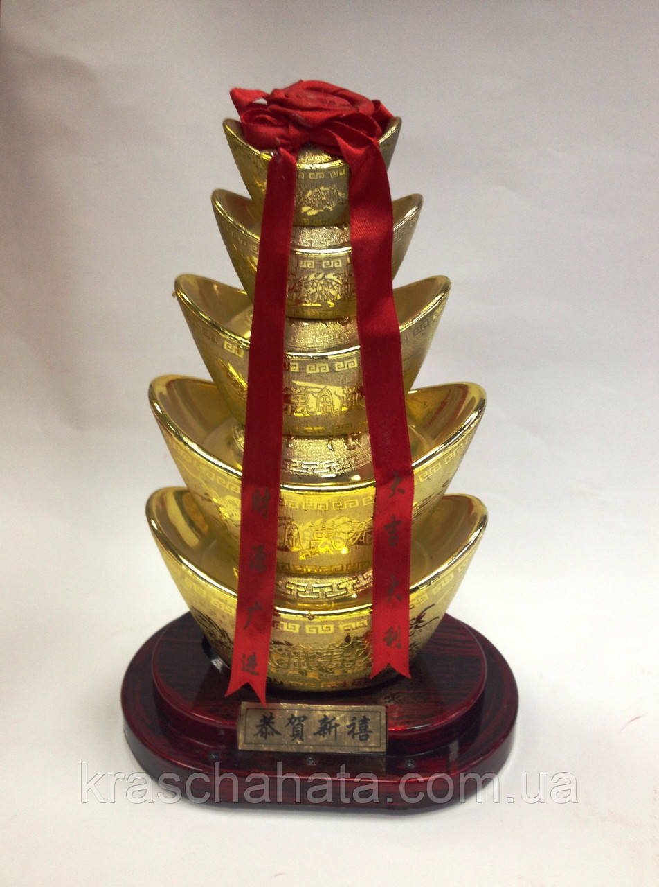 Золотые слитки, Фен шуй, Н 24 см, Днепропетровск