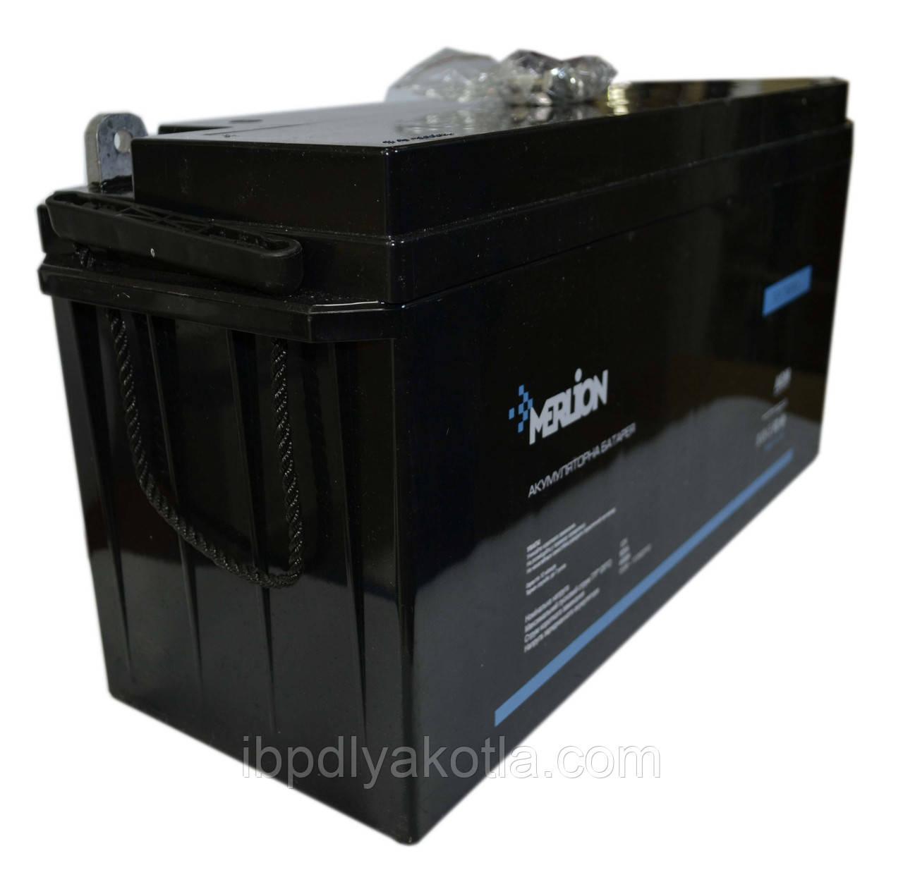 Аккумулятор мультигелевый MERLION MLB-12-150 12V 150AH, (AGM) для ИБП
