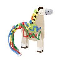 Деревянная игрушка Пони для шнуровки Hape