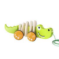 Деревянная игрушка Каталка Длинный Крокодил Hape